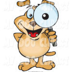 clip-art-of-a-dog-looking-through-a-magnifying-glass-making-his-eye-appear-big-by-dennis-holmes-designs-1551